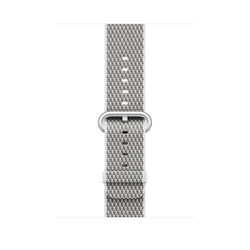 Apple MQVL2ZM/A Band Silber, Weiß Nylon Smartwatch-Zubehör (Silber, Weiß)