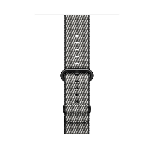Apple MQVK2ZM/A Band Schwarz, Grau Nylon Smartwatch-Zubehör (Schwarz, Grau)