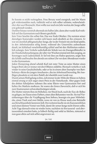 Tolino Epos Touchscreen 8GB WLAN Schwarz eBook-Reader (Schwarz)