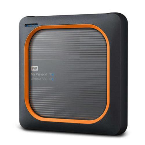 Western Digital My Passport Wireless SSD 2TB 2000GB WLAN Schwarz, Orange (Schwarz, Orange)