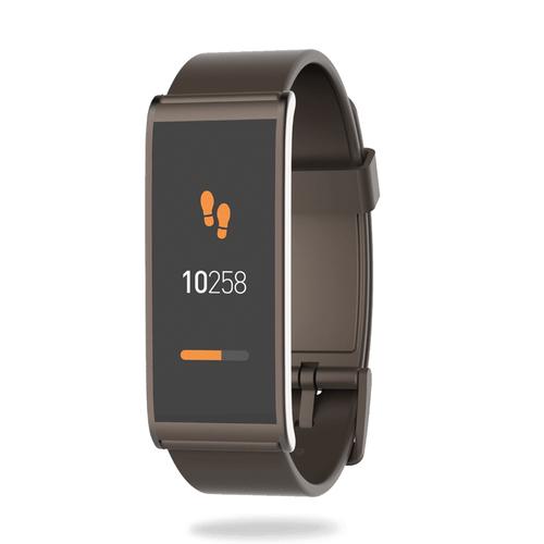 MyKronoz ZeFit4 HR Wristband activity tracker 1.06Zoll TFT Kabellos IP67 Braun (Braun)