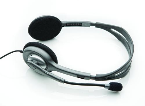 Logitech LGT-H110 (Schwarz, Silber)