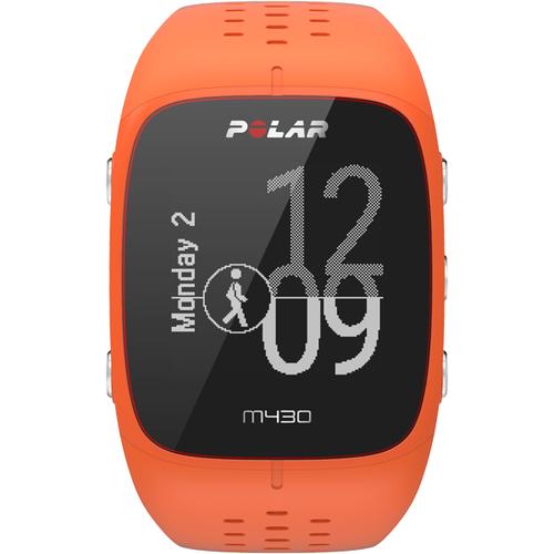 Polar M430 Bluetooth 128 x 128Pixel Schwarz, Orange Sportuhr (Schwarz, Orange)