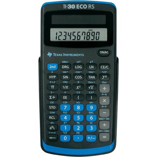 Texas Instruments TI-30 ECO RS Taschenrechner (Schwarz)