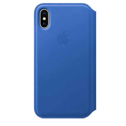 Apple iPhone X Leder Folio – Electric Blau (Blau)