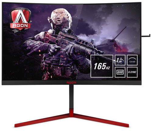 AOC Gaming AG273QCG Computerbildschirm 68,6 cm (27 Zoll) 2560 x 1440 Pixel Quad HD LED Schwarz, Rot (Schwarz, Rot)