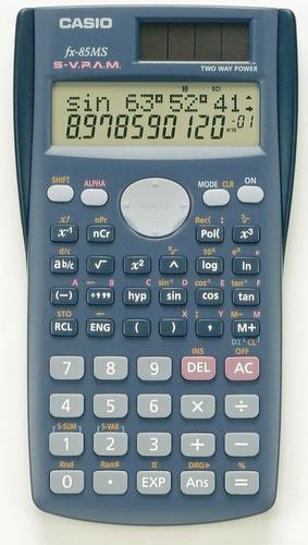 Casio FX-85MS Taschenrechner (Blau)