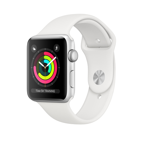 Apple Watch Series 3 42 mm OLED Silber GPS