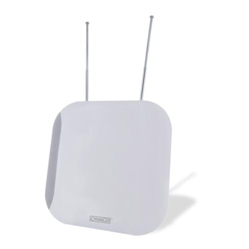 Schwaiger ZA100 011 TV-Antenne Indoor Dual 36 dB (Weiß)