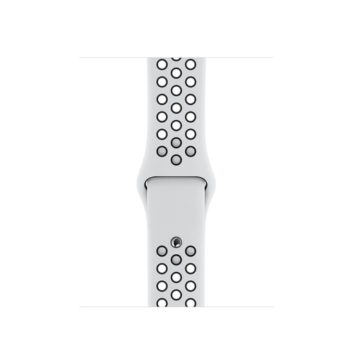 Apple MX8D2ZM/A Smartwatch-Zubehör Band Schwarz, Platin Fluor-Elastomer (Schwarz, Platin)