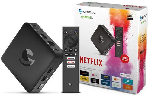 Ematic SRT202EMATIC TV Set-Top-Box Ethernet (RJ-45), WLAN 4K Ultra HD Schwarz (Schwarz)