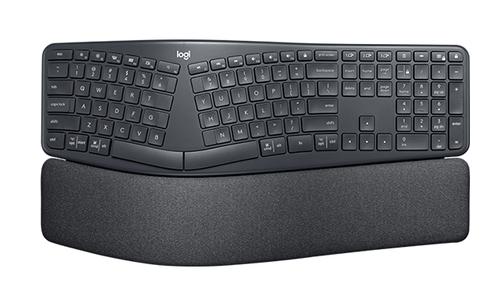 Logitech ERGO K860 Tastatur RF Wireless + Bluetooth QWERTZ Deutsch Schwarz (Schwarz)