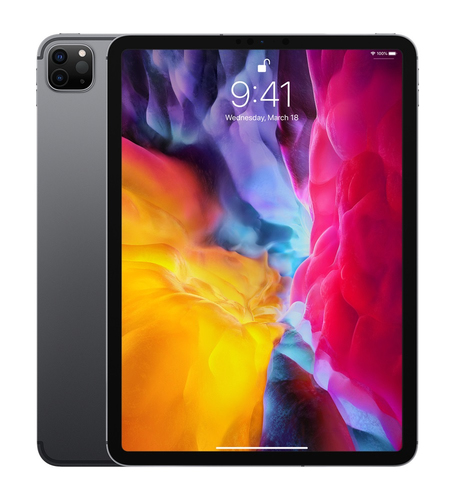 Apple iPad Pro 4G LTE 128 GB 27,9 cm (11 Zoll) Wi-Fi 6 (802.11ax) iPadOS Grau (Grau)