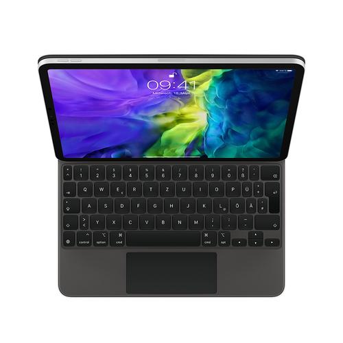 Apple MXQT2D/A Tastatur für Mobilgeräte Schwarz QWERTZ Deutsch (Schwarz)