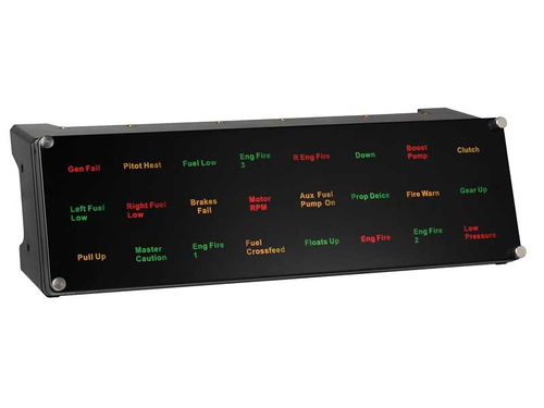 Saitek Pro Flight Backlit Information Panel (Schwarz)