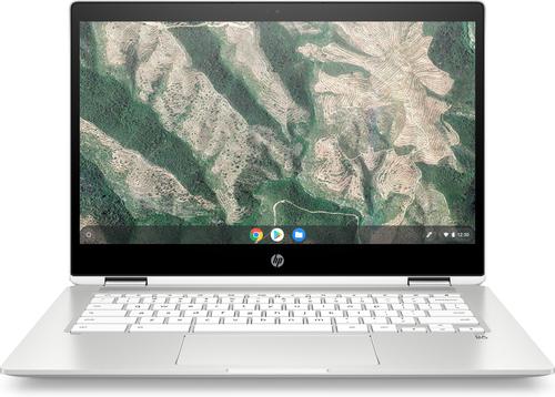 HP Chromebook x360 14b-ca0431ng 35,6 cm (14 Zoll) 1366 x 768 Pixel Touchscreen Intel® Pentium® Silver 8 GB LPDDR4-SDRAM 128 GB eMMC Wi-Fi 5 (802.11ac) Chrome OS Weiß (Weiß)