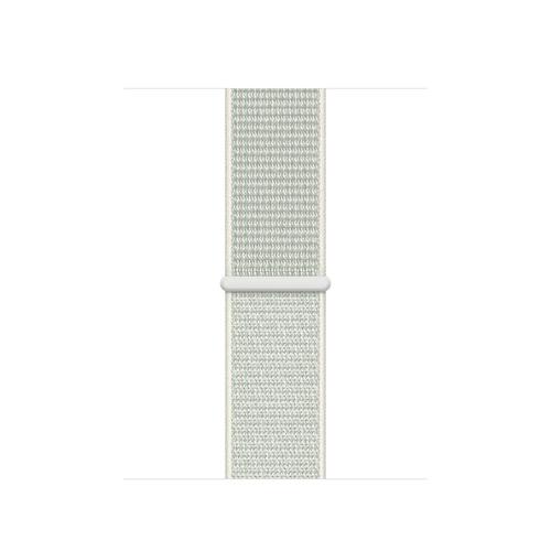 Apple MGQF3ZM/A Smartwatch-Zubehör Band Grau, Weiß Nylon (Grau, Weiß)