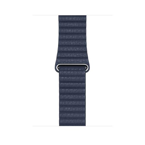 Apple MGXD3ZM/A Smartwatch-Zubehör Band Blau Leder (Blau)