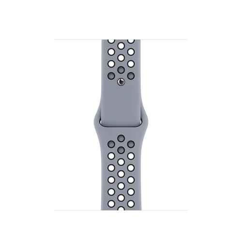 Apple 40mm Obsidian Mist/Black Nike Sport Band – Regular Grau Fluor-Elastomer (Grau)