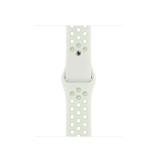 Apple MG3T3ZM/A Smartwatch-Zubehör Band Grün, Weiß Fluor-Elastomer (Grün, Weiß)