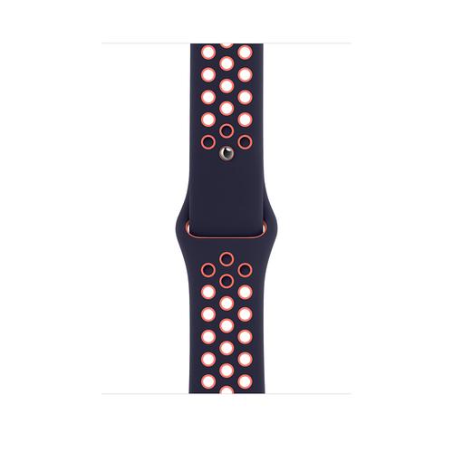Apple MG3X3ZM/A Smartwatch-Zubehör Band Schwarz, Orange Fluor-Elastomer (Schwarz, Orange)