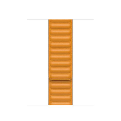 Apple 40mm California Poppy Leather Link - S/M Band Orange Leder (Orange)