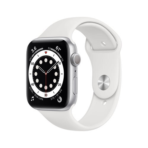 Apple Watch Series 6 44 mm OLED Silber GPS