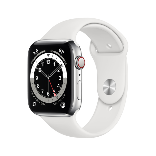 Apple Watch Series 6 44 mm OLED 4G Silber GPS