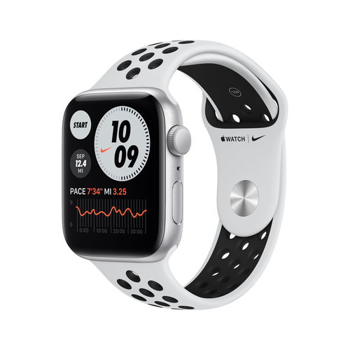 Apple Watch SE Nike 44 mm OLED Silber GPS