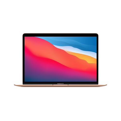 Apple MacBook Air Notebook 33,8 cm (13.3 Zoll) 2560 x 1600 Pixel Apple M 8 GB 256 GB SSD Wi-Fi 6 (802.11ax) macOS Big Sur Gold (Gold)