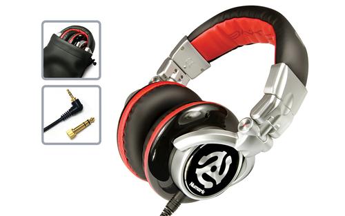 Numark RED WAVE Schwarz, Rot Ohraufliegend Kopfband Kopfhörer (Schwarz, Rot)