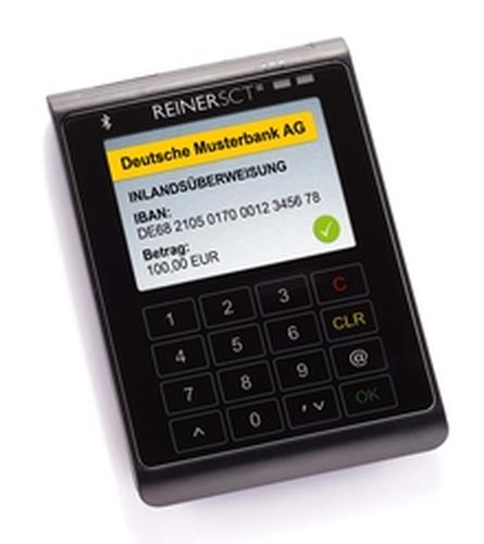 Reiner SCT cyberJack wave Bluetooth Anthrazit, Schwarz Smart-Card-Lesegerät (Anthrazit, Schwarz)