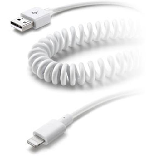 Cellular Line Lightning - USB Lightning USB 2.0 Weiß Handykabel (Weiß)