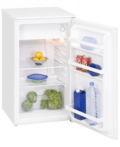 Exquisit KS102A+ Freistehend 100l A+ Weiß Kühlschrank mit Gefrierfach (Weiß)