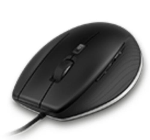 3Dconnexion Cadmouse USB Laser 8200DPI rechts Schwarz Maus (Schwarz)