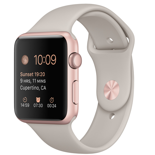 Apple Watch Sport (Grau, Gold)