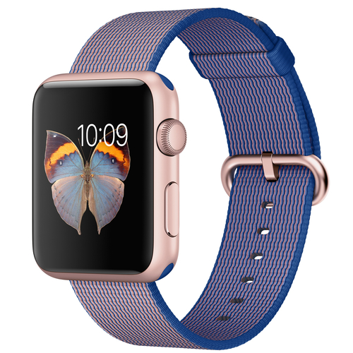 Apple Watch Sport (Blau, Gold)