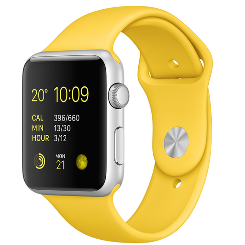 Apple Watch Sport (Gelb, Silber)