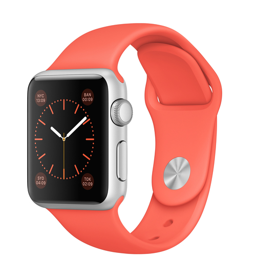 Apple Watch Sport (Koralle, Silber)