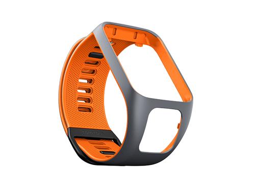 TomTom Runner 3-/Spark 3-Wechselarmband (Grau/Orange – Breit) (Grau, Orange)