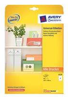 Avery 6124 Druckeretikette (Weiß)