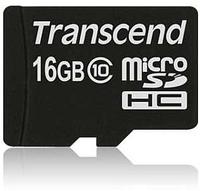 Transcend 16GB microSDHC (Schwarz)