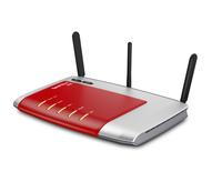 AVM FRITZ!Box 6840 LT, DE WLAN Eingebauter Ethernet-Anschluss Dual-Band Rot, Silber (Rot, Silber)