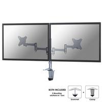 Newstar FPMA-D1330DSILVER Flat panel Tischhalter (Silber)