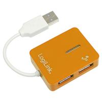 LogiLink USB 2.0 4-Port Hub (Orange)