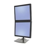 Ergotron DS Series DS100 Dual Monitor Desk Stand, Vertical (Schwarz)