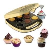 Bestron DKP2828 Cupcake- und Donut-Maker (Gold)