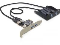 DeLOCK Front Panel + PCI Express Card (Schwarz)