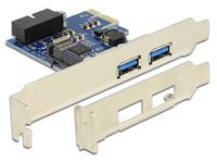 DeLOCK 89315 Schnittstellenkarte/Adapter (Blau, Weiß)