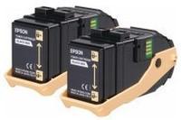 Epson AL-C9300N Tonerkassetten-Doppelpack Cyan 7.5k x 2